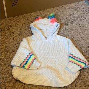 Girls 2t/3t hooded poncho